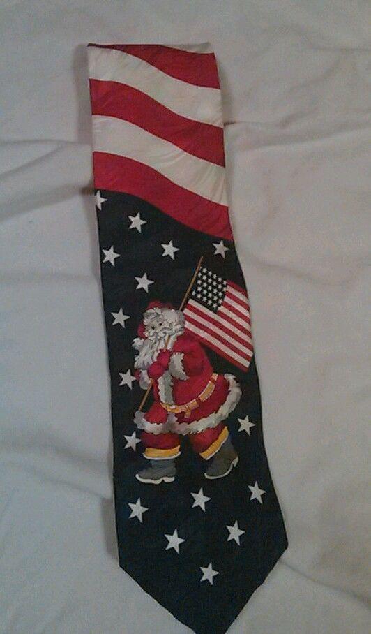 Patriotic Santa neck tie  #Tie