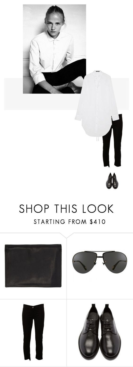 """/"" by darkwood ❤ liked on Polyvore featuring Linda Farrow and Ann Demeulemeester"