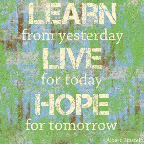 Learn Live Hope Art Print