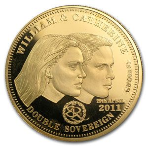 2011 Gold Proof Double Sovereign Royal Wedding AGW .4711