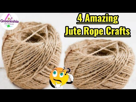 4 Jute Rope Craft Ideas Best Out Of Waste Material Diy Easy Room Decor Jute Wall Hanging Youtube In 2020 Rope Crafts Rope Diy Projects Rope Diy