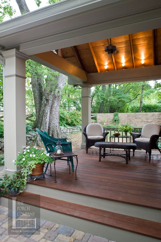 Pinterest the world s catalog of ideas for Covered porch flooring options