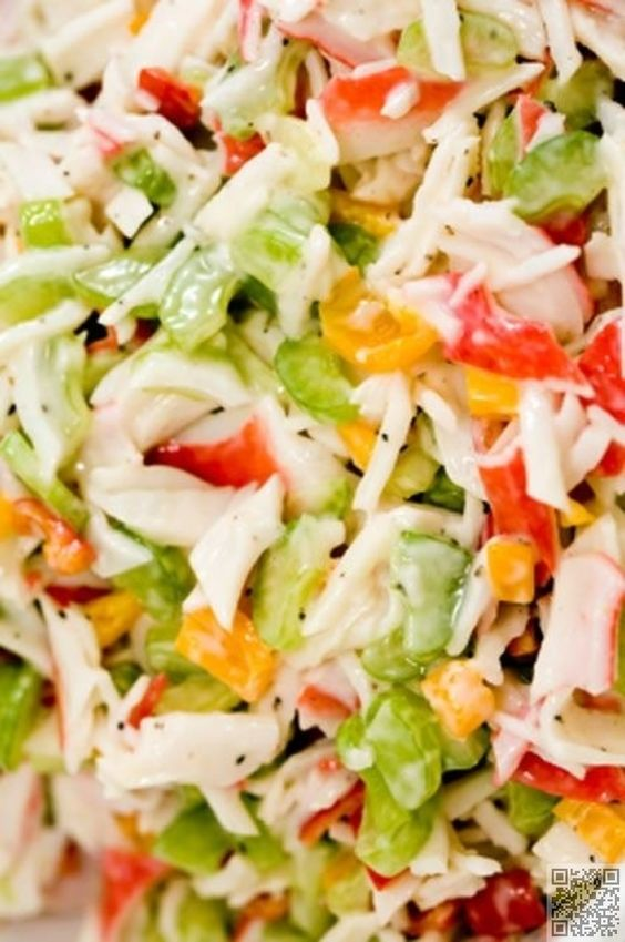 9. Cold Crab #Salad - 30 Delicious Crab #Recipes Perfect for Your Next #Splurge ... → Food #Cakes