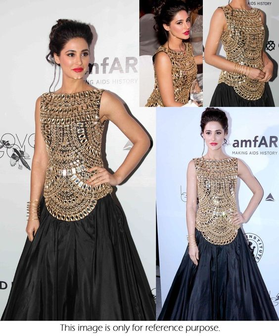 Bollywood Indian Pakistani Ethnic Nargis Saree gown Designer Party ...