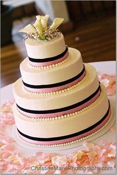 """double ribbon AND """"pearls""""! perfect"""
