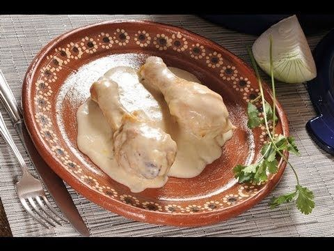 Pollo en leche - Chicken in white sauce:  Cocina al Natural video
