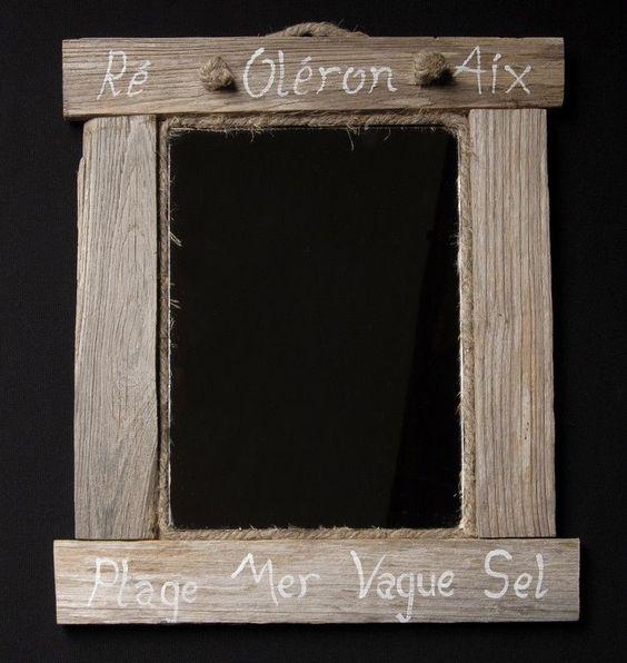 Miroir bois flotté Nature 35 cm - Coc'art Créations