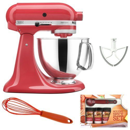 New blogpost (Cheap KitchenAid Artisan KSM150 Stand Mixer (Watermelon) + Beater Blade + Kamenstein Mini Measuring Spoons Spice Set + Silicon Whisk Discount !!) has been published on Home and kitchen Appliances #Blender, #Blenders, #Cuisinart, #HomeKitchen, #KitchenDining, #KitchenAid, #KitchenAid, #KitchenaidMixer, #KitchenaidStandMixer, #Mixer, #SmallAppliances, #StandMixers Follow :   http://howdoigetcheap.com/26039/cheap-kitchenaid-artisan-ksm150-stand-mixer-watermelon-b