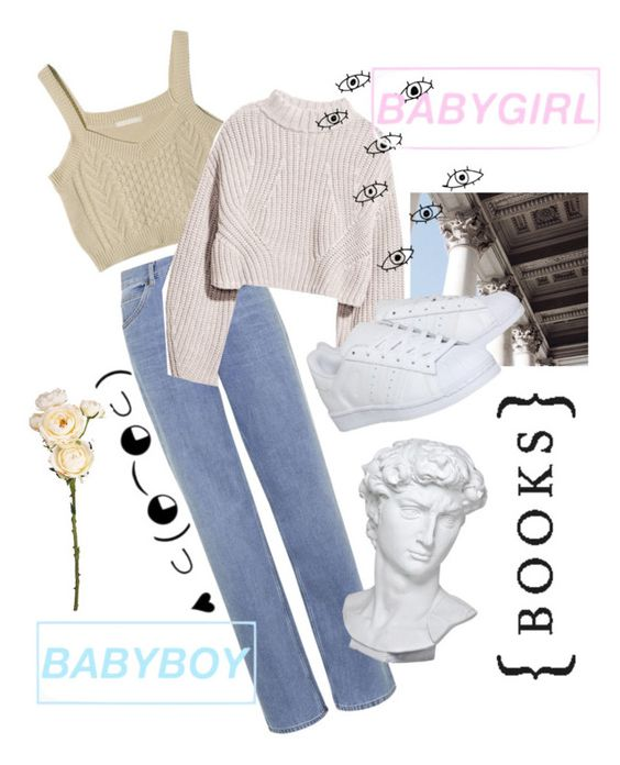 """Babygirl👩🏼 Babyboy👱🏼"" by martabiurrungarrido ❤ liked on Polyvore featuring Topshop, adidas, Eichholtz and M&S"