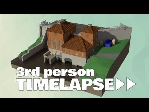 Low Poly Hydroelectric Power Station - 3rd Person Timelapse - YouTube