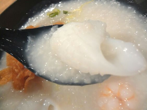 Chinese congee with seafood