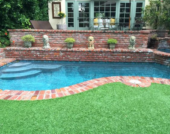 pools and artificial grass