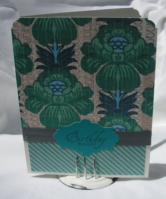 Elegant Floral Birthday Greeting Card by #PlaysNicelyWithPaper