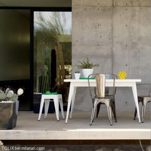 Die Stahlblechstühle von TOLIX lassen sich auch prima als Sitzgelegenheit für den überdachten Außenbereich verwenden. Das wunderbare Design kombiniert mit den …