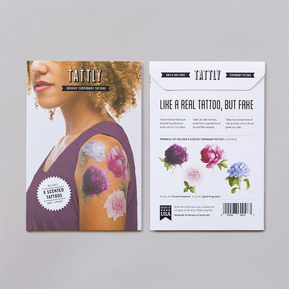 Tattly Scented Flower Temporary Tattoos