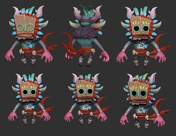 Forest Tiki in 3D on Behance