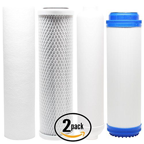 2 Pack Replacement Filter Kit For Vertex Pt 4 0 5 Ro System Includes Carbon Block Filter Pp Sediment Filter Gac Replacement Filter Filters Pure Products