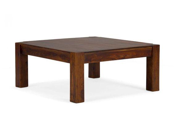 Couchtisch 90x90 Palisander massiv Holz Möbel Neu Wohnmöbel braun 16644