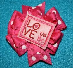 Love Stamp Feltie In The Hoop Embroidery Machine by SewingForSarah