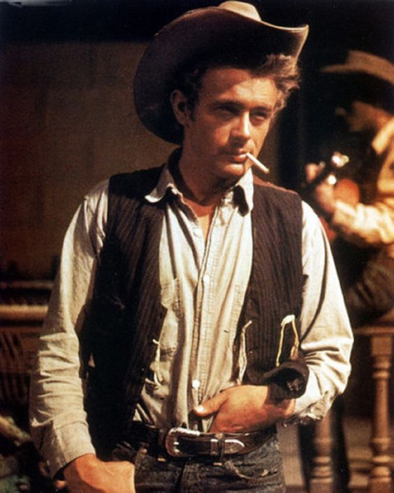 James Dean - on the set of GIANT