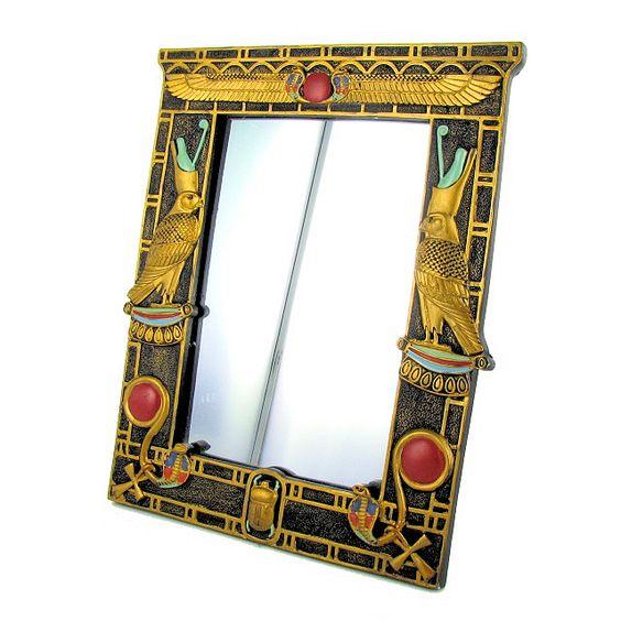 Cadre miroir egyptien couleur or pour y mettre sa photo for Miroir egyptien