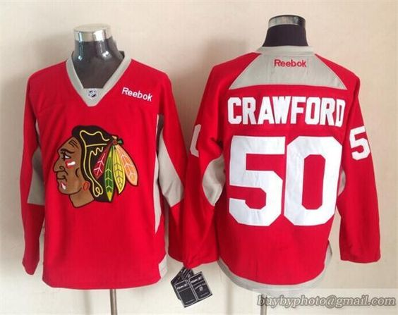 2015 New Blackhawks #50 Crawford Red NHL Jerseys