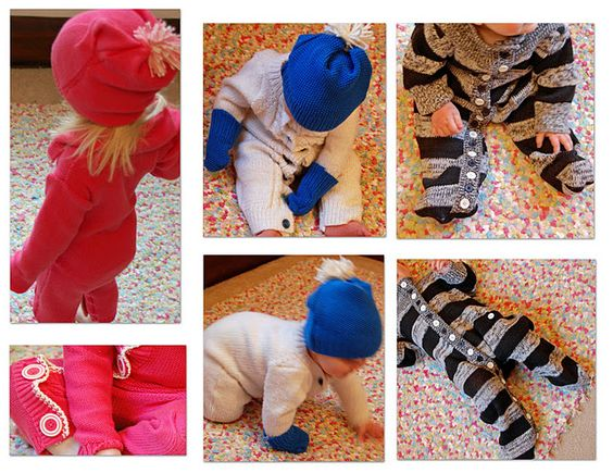 Kid's jammies made from old button-up sweaters. I just love upcycling!