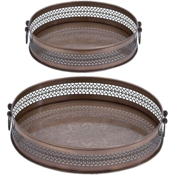 2 Piece Pavia Tray Set