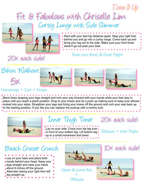 Fit & Fabulous with Chriselle Full Body workout printable routine.