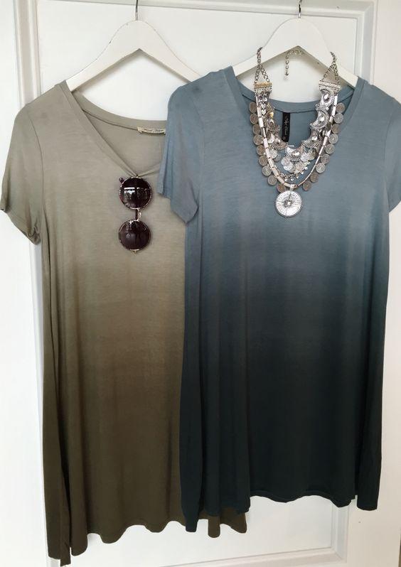 Ombré t shirt dress #swoonboutique: