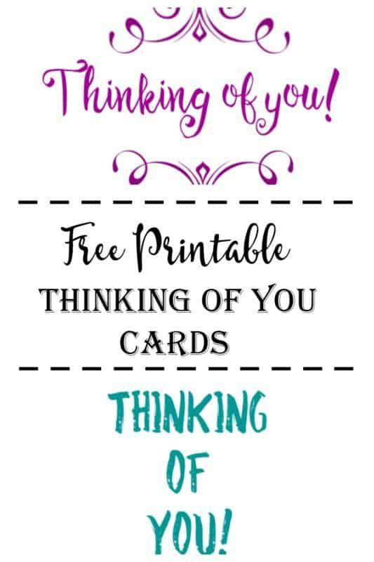Free Printable Thinking Of You Cards Cultured Palate Free Printable Greeting Cards Printable Greeting Cards Encouragement Printables