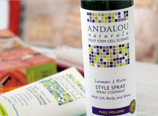Can You Style Your Hair Without The Hassle Of Gel Yes Andalou Naturals Lavender Biotin Styling Spray G Body Skin Care Andalou Naturals Natural Hair Styles