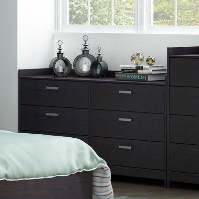 Homestar Central Park 6 Drawer Dresser Finish:
