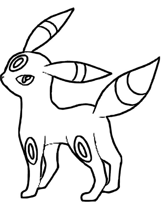 I have download Pokemon Umbreon Coloring Pages | Coloring ...