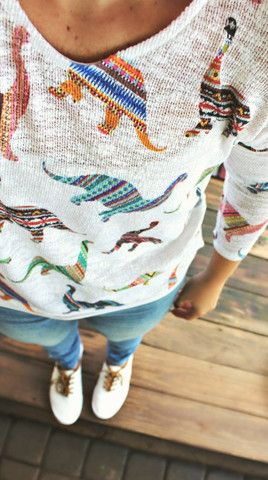 Dinosaur Long-sleeve Knit Top – Simply Taralynn Collection