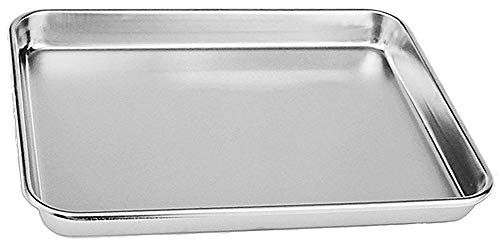 Review Rykey Stainless Steel Toaster Oven Pan Tray Ovenware Big Size 12 X 10 X 1 Rust Resist In 2020 Toaster Oven Pans Stainless Steel Toaster Clean Dishwasher