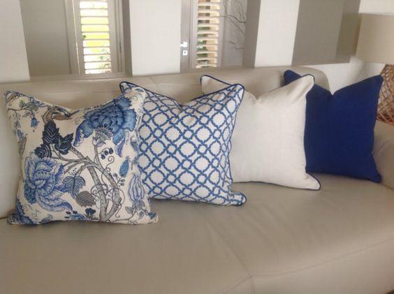 GOING COASTAL - Hamptons Style Linen Cushions Linen Designer by MyBeachsideStyle