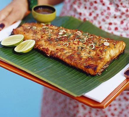 BBQ tamarind salmon with lemongrass, chilli & ginger recipe - Recipes - BBC Good Food