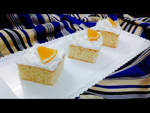 كايك البرتقال الهشة بطريقة مبتكرة Youtube Desserts Cake Food