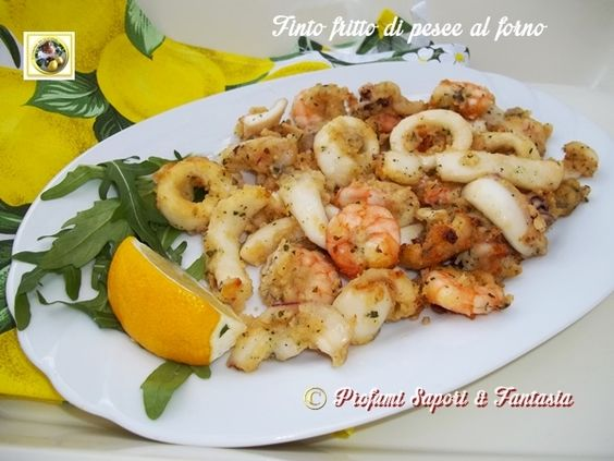 Finto fritto di pesce al forno, un'ottima alternativa per portare in tavola un gustoso secondo di pesce decisamente più leggero del fritto tradizionale.