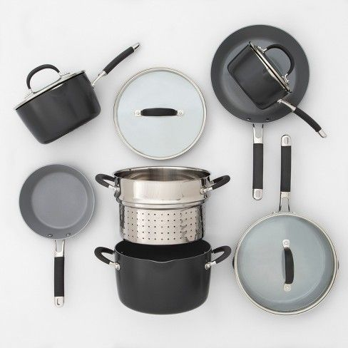 Ceramic Coated Aluminum Cookware Set 11pc Made By Design