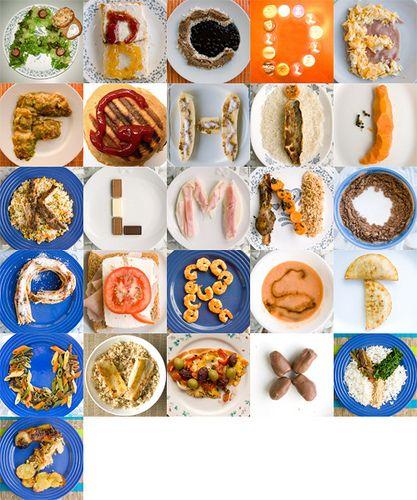 #Abecedario alimenticio para hacerlo...fotografiarlo...revelarlo...y plastificarlo...