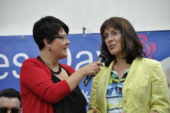 #Ladies #Day #Moderatorin Steffi Renz im Gespräch mit Tanja Ulmer Geschäftsführerin der #StaRT Stadtmarketing und Tourismus Reutlingen GmbH und Veranstalterin der Ladies Day.
