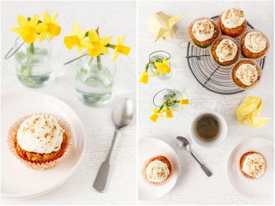 Glutenfree Carrot-Coconut-Banana-Cupcakes | Glutenfreie Karotten-Kokosnuss-Bananen-Cupcakes | food-vegetarisch.de