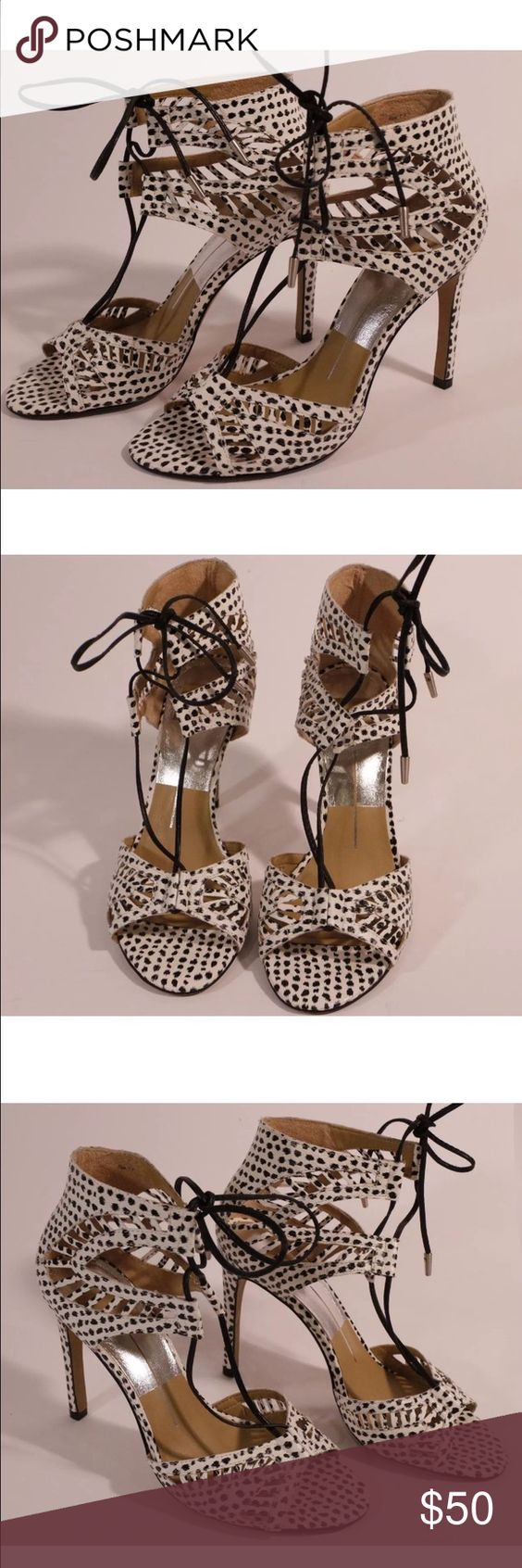 Dolce vita leather heels Pre owned, in very good condition! So cute! Dolce Vita Shoes Heels