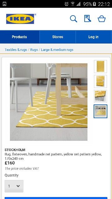 Mustard yellow rug for the conservatory