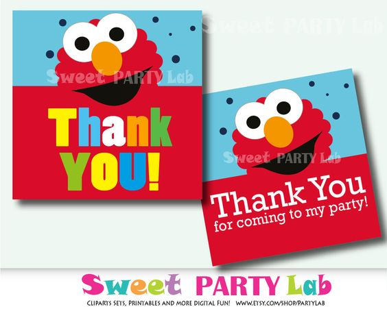 New from Partymazing on Etsy: Elmo Printable Thank You TagsElmo Birthday Tags  instant Download DIY Thank You Tag Printable Elmo Inspired Tags Pdf D022 (5.00 USD) For more @partymazing