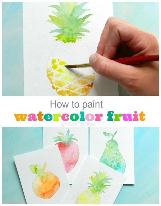 How to Paint Watercolor Fruit: Textured Pear