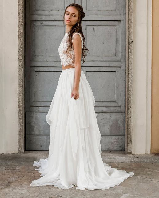 Two Piece Wedding Dress Boho Whimsical And Elegant Comfy Haven 2 Piece Wedding Dress Destination Wedding Dress Online Wedding Dress