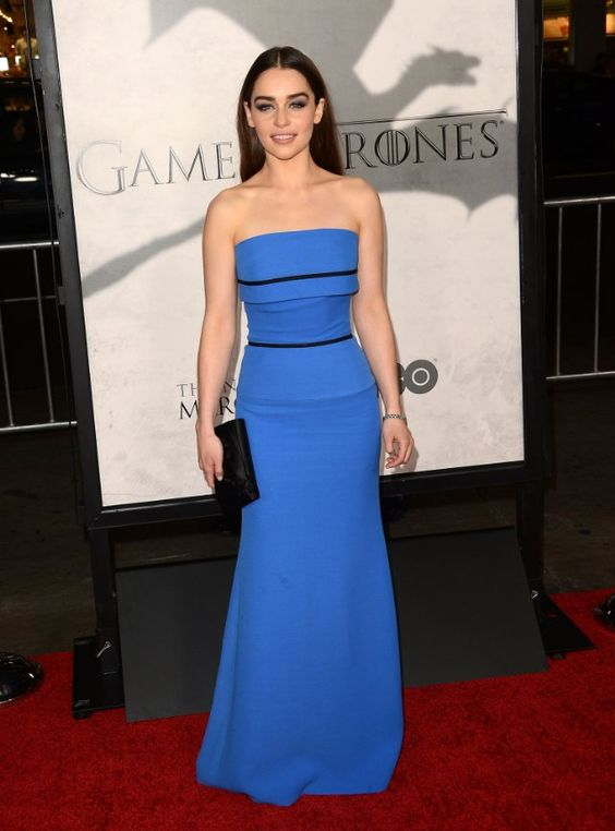 Emilia Clarke, Game of Thrones Season 3 Premiere, 2013.